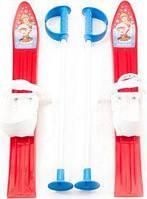 Набор лыжный детский MARMAT 60 см (лыжи +крепление+ палки) красные