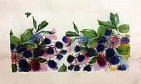 Основа для вышивки и декора Декупаж по текстилю Ягоды 005, 40*25см