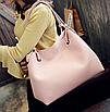 Сумка женская большая молодежная с кошельком шоппер Розовый, фото 2