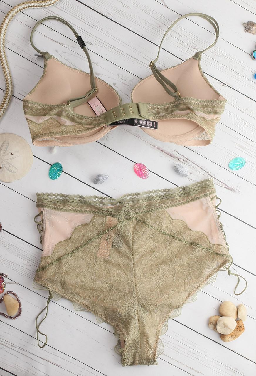 Комплект белья 32C 70C Victoria s Secret двойной пуш-ап трусики пеньюар  Оригинал Виктория Сикрет ffa3ca852e2e5