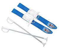 Набор лыжный детский MARMAT 60 см (лыжи +крепление+ палки) голубые