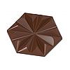"""Форма для шоколада """"Руби"""" 103,5x89,5 H 13,5 мм, 1x2 шт x 56 gr"""
