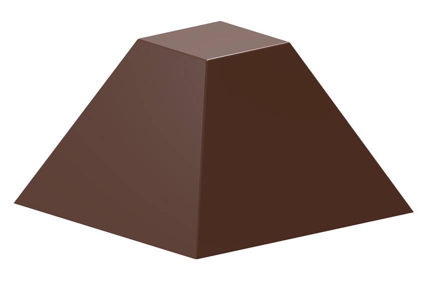 """Форма для шоколада """"Пирамида"""" 27,5x27,5x17 mm, 21 шт x 8 gr"""