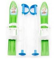 Набор лыжный детский MARMAT 60 см (лыжи +крепление+ палки) салатовые