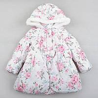 """Детская теплая зимняя куртка Matalan """"Роза"""" для девочки, размер 4-5 лет, 110 см"""