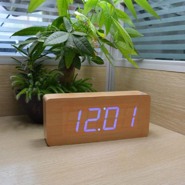 Электронные настольные часы VST 865-1 Зеленая подсветка