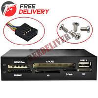 3.5 внутренний кардридер SD TF XD MS CF M2 + USB