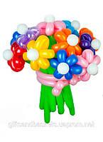 Подарок на день рождения букет цветочков из 11 разноцветных воздушных шариков
