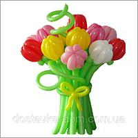 Букет тюльпанов из воздушных шаров 15шт