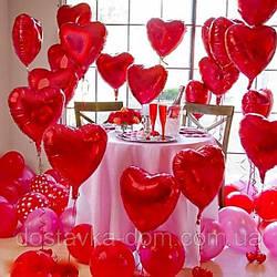 Оформление воздушными шарами Признание в любви