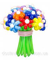 """Большой букет из разноцветных воздушных шаров """"Цветик-Семицветик"""" 25шт"""