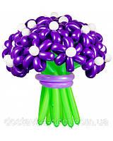 """Фиолетовый букет из воздушных шаров """"Мальвина"""" 21шт"""