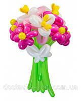 """Композиция из воздушных шаров """"Феерия"""" в розовом цвете"""