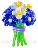 """Композиция из воздушных шаров """"Фантазия"""" в синем цвете"""