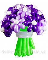 """Букет цветов из воздушных шаров в сиреневых тонах """"Фиолетовая дымка"""" 21шт"""