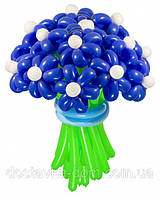 """Букет синих цветов из воздушных шаров """"Мираж"""" 21шт"""