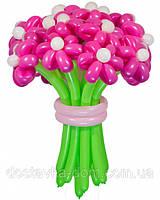 Букет цветов Барби из воздушных шаров 21шт