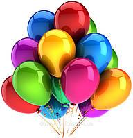 Подарок на день рождения разноцветные летающие гелиевые воздушные шары