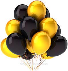 Черные и желтые воздушные шары с гелием