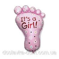 Фольгированный гелиевый шар для встречи девочки из роддома