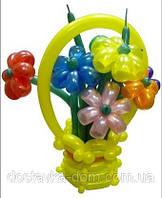 """Букетик-корзинка из шаров """"Скромный подарочек"""""""