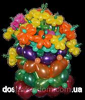 """Корзина из воздушных шаров """"Цвета радуги"""""""