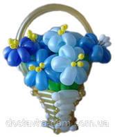 """Корзина из воздушных шаров """"Голубая лагуна"""""""
