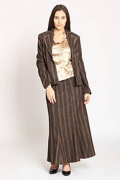 Костюм (блуза, жакет, юбка) Spring Tide 40 коричневый (VT-8874_Brown)