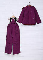 Комплект (Куртка, комбинезон) Snow Style 104 фиолетовый (GGR-3782514_Violet)