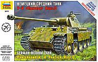 """T-V """"ПАНТЕРА"""" AUSF.D сборная модель немецкого среднего танка в масштабе 1/72.  ZVEZDA 5010"""