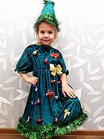 Карнавальный костюм платье Елочка, фото 1
