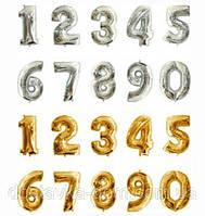 Фольгированные шары цифры с гелием для оформления детского дня рождения