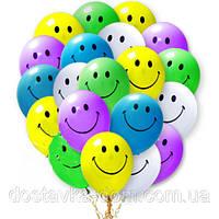 Воздушные шары смайлики разноцветные - лучший подарок ребенку на день рождения