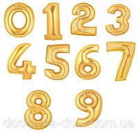 Большие фольгированные шары цифры с гелием для оформления дня рождения и юбилея