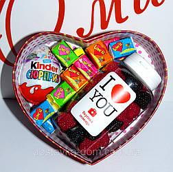Подарочный набор №3 в подарочной коробочке в форме сердца