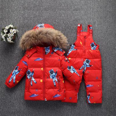 Детский комбинезон Космонавт красный