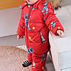 Детский комбинезон Космонавт красный, фото 3