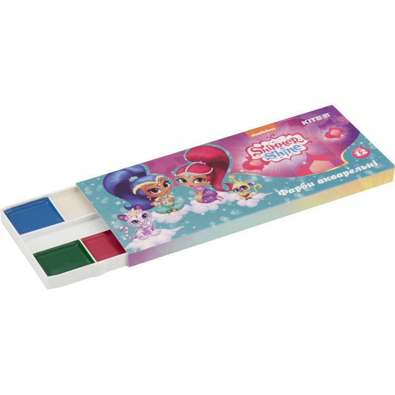 Краски акварельные детские Kite Shimmer&Shine 12 цветов, SH18-041