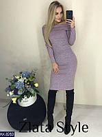 Женское платье из ангоры софт с открытыми плечами, фото 1