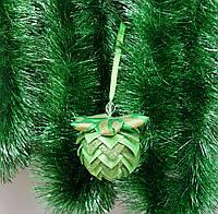 Шар зеленый- Новогодние украшения