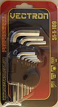 Набір шестигранних ключів Vectron 1,5-10 мм 51-1-109