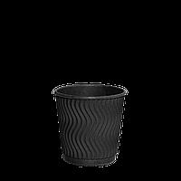 Стакан бумажный гофрированный Double Black 110мл 30шт (1ящ/48уп/1440шт)