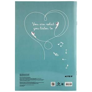 Тетрадь для нот Kite BeSound K19-404-2-23 А4, 20 листов, фото 2