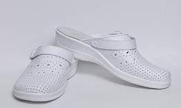 Обувь (сабо) медицинская, Молдавия, модель Яна мягкий подпяточник (пара), белые  р.36-р.41