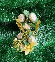 Елочное украшение/золотой орех 2 шт-Новогодние украшения, фото 1