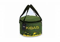 Ведро для  прикормки KIBAS c крышкой Line (KS225)