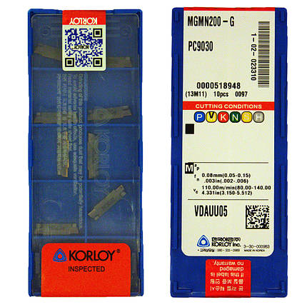 Пластина KОRLOY MGMN200-M PC9030, фото 2
