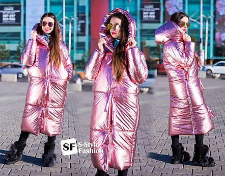 Женская теплая куртка удлиненная , фото 2