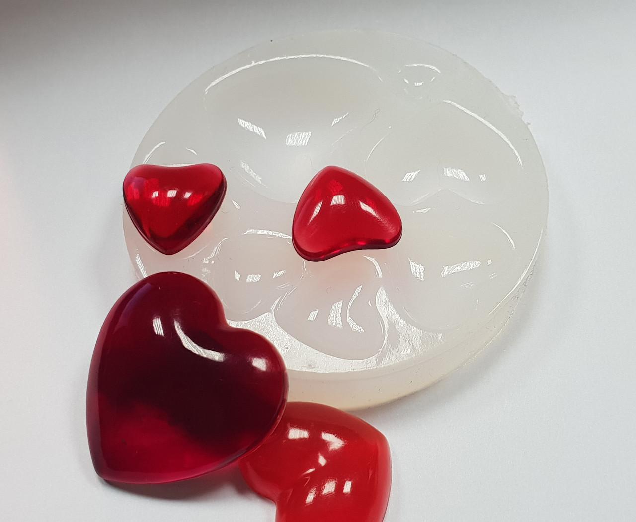 """Молд силиконовый для эпоксидной смолы, глины """"8 сердец"""" палетка"""