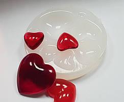 """Молд силіконовий для епоксидної смоли, глини """"8 сердець"""" палетка"""